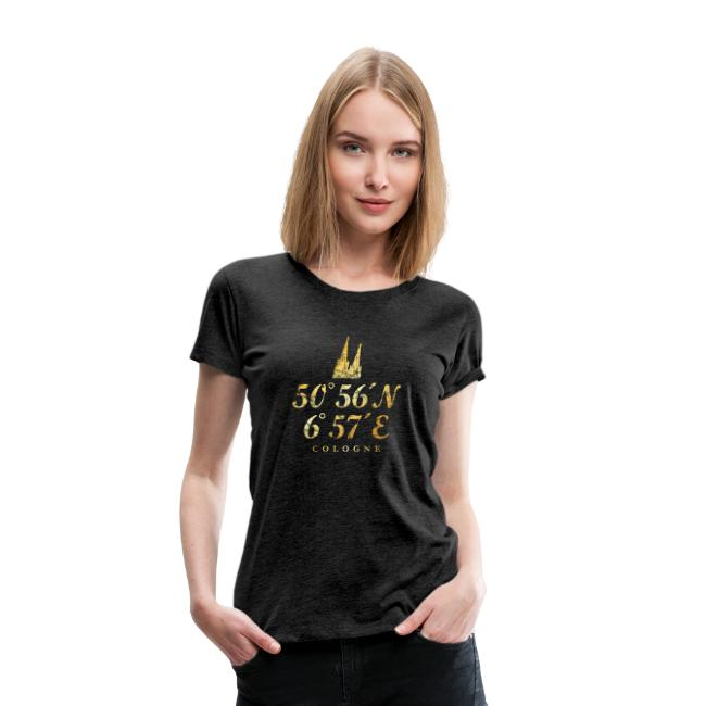 Köln Koordinaten T-Shirt