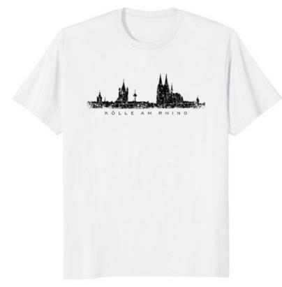 """Köln T-Shirt Kölner Skyline """"Kölle am Rhing"""""""