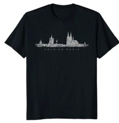 """Köln T-Shirt Kölner Skyline """"Köln am Rhein"""""""