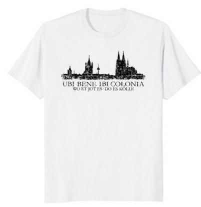 """Köln T-Shirt Kölner Skyline """"Ubi Bene"""""""